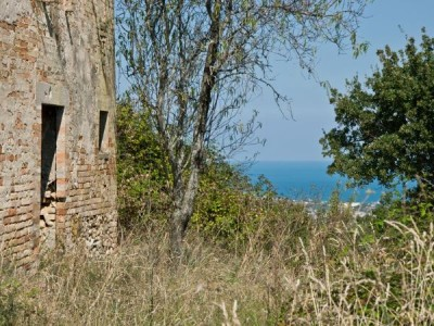 OLD FARMHOUSE WITH SEA VIEW FOR SALE IN LE MARCHE Country house to restore with panoramic view in central Italy in Le Marche_1