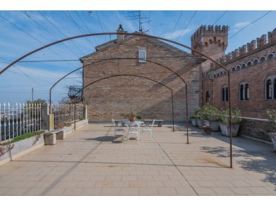 Properties for Sale_BUILDING FOR SALE IN THE HISTORICAL CENTER OF GROTTAZZOLINA WITH A PANORAMIC TERRACE in the Marche in Italy in Le Marche_1