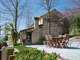 RESTORED FARMHOUSE FOR SALE IN LE MARCHE Country house with garden and panoramic view in Italy